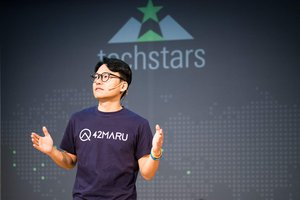 CEO DK Pitching at Techstars