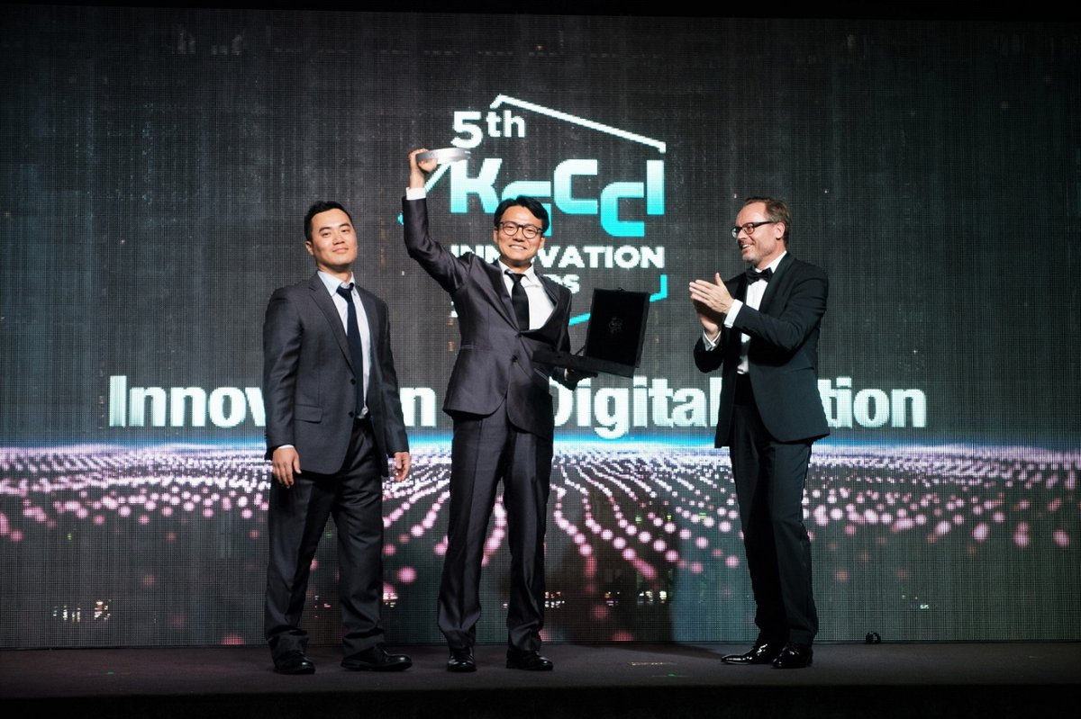 Jason Shim and DK Kim receive KGCCI Award